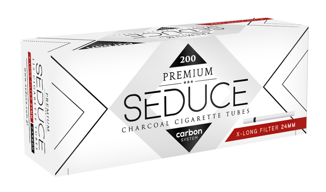 SEDUCE Carbon cigarette tubes contain three-part filter with activated carbon