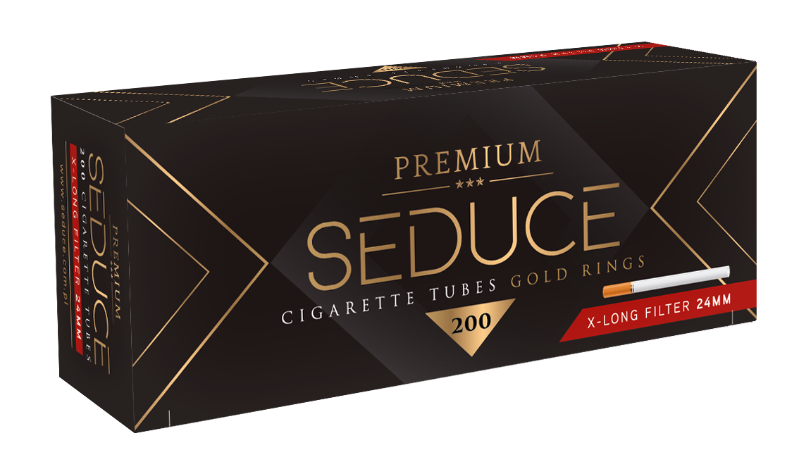 Premium & high quality extra-long 24mm filter cigarette tubes in SEDUCE 200 standard empty filter cigarette tubes with long filter.